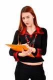 Biznesowej kobiety writing notatki Zdjęcia Royalty Free