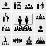 Biznesowej konferenci i prezentaci ikony Zdjęcia Royalty Free