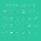 Biznesowej linii ikony Zdjęcie Stock