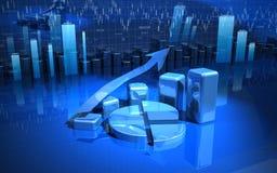 biznesowej mapy diagrama wykres Obraz Stock