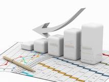 biznesowej mapy diagrama wykresu grafika ilustracja wektor