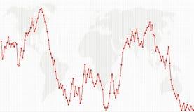biznesowej mapy kropki wykresu linia ilustracji