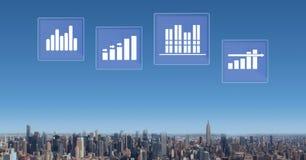Biznesowej mapy statystyki ikony Zdjęcia Stock