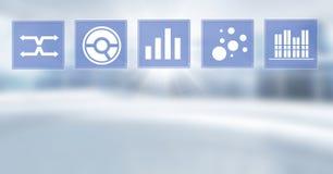 Biznesowej mapy statystyki ikony Obraz Stock