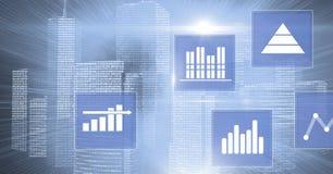 Biznesowej mapy statystyki ikony Obrazy Stock