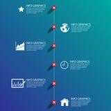 Biznesowej mapy sukces, ilustracja eps 10 Obrazy Royalty Free