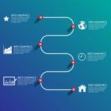 Biznesowej mapy sukces, ilustracja eps 10 Obraz Stock