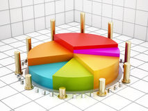 biznesowej mapy wykresów odosobniony pasztetowy biel Fotografia Royalty Free