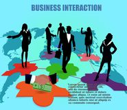 biznesowej pojęcia interakci odosobniony whtie Obraz Stock