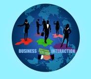 biznesowej pojęcia interakci odosobniony whtie Fotografia Royalty Free