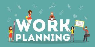 Biznesowej pracy planistyczny pojęcie Pomysł strategia royalty ilustracja