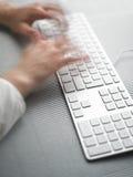 biznesowej prędkości pośpieszny pisać na maszynie Obraz Royalty Free