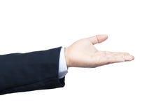 Biznesowej ręki recive symbol Zdjęcie Stock