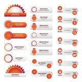 Biznesowej strony internetowej czerwoni guziki ustawiający Zdjęcie Royalty Free