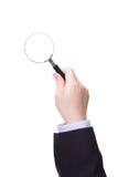 biznesowej szklanej ręki target5495_0_ mężczyzna Obraz Royalty Free