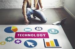 Biznesowej technologii grafika Postępowy pojęcie obrazy stock