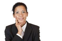 biznesowej ufnej jaźni pomyślna kobieta Zdjęcia Royalty Free