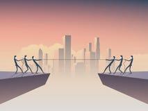 Biznesowej zażartej rywalizaci wektorowy symbol z biznesmena ciągnięcia arkaną jako symbol biznesowa rywalizacja Korporacyjna lin ilustracja wektor