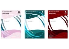 Biznesowi broszurka projekta 3 kolory dostępni Obrazy Stock