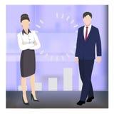 Biznesowi charaktery royalty ilustracja