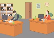 Biznesowi charaktery Biurowa sytuaci mieszkania stylu wektoru ilustracja ilustracja wektor