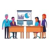 Biznesowi coworkers kierownictwa ilustracji
