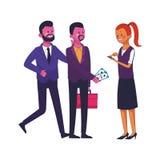 Biznesowi coworkers kierownictwa royalty ilustracja