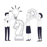 Biznesowi coworkers kierownictwa ilustracja wektor
