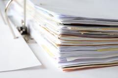 Biznesowi dokumenty w dokumencie Obrazy Royalty Free