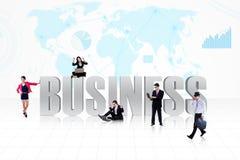 Biznesowi globalni ludzie royalty ilustracja