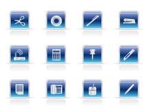 biznesowi ikon biura narzędzia Fotografia Royalty Free