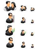 biznesowi ikony ludzie profesjonalisty setu ilustracja wektor