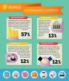 Biznesowi infographic elementy Obraz Royalty Free