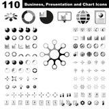 Biznesowi infographic, mapa, prezentacja, raport i unaocznienie elementy z kolorem, ilustracja wektor