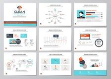 Biznesowi infographics elementy dla korporacyjnych broszurek Obraz Royalty Free
