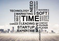 Biznesowi konceptualni słowa jak klucze sukcesu i firmy przyrost Obraz Royalty Free