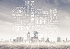 Biznesowi konceptualni słowa jak klucze sukcesu i firmy przyrost Obrazy Royalty Free