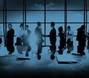 Biznesowi Korporacyjni ludzie partnerstwa spotkania dyskusi pojęcia obraz stock