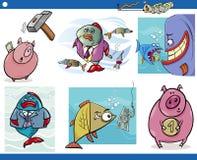 Biznesowi kreskówek pojęcia ustawiający royalty ilustracja