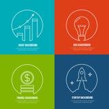 Biznesowi kreskowej sztuki tła Finanse i ilustracja wektor