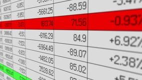 Biznesowi księgowości oprogramowania przerobu firmy dane dla rocznego pieniężnego raportu ilustracja wektor