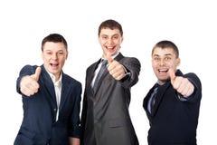 biznesowi mężczyzna trzy potomstwa Zdjęcie Royalty Free