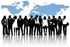 biznesowi map ludzie Obraz Stock