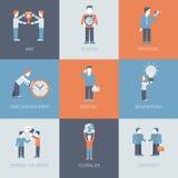 Biznesowi marketingowi promocyjni ludzie i przedmiot sytuacje płaskie ilustracji