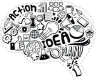 Biznesowi pomysłów doodles ilustracja wektor