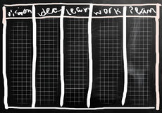 Biznesowi pomysły ręcznie pisany z bielem piszą kredą na blackboard royalty ilustracja