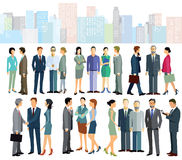 Biznesowi pracownicy w mieście ilustracja wektor