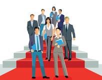 Biznesowi profesjonaliści na czerwonym chodniku Fotografia Royalty Free