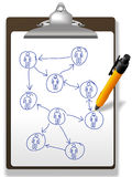 biznesowi schowka diagrama sieci pióra ludzie planu Fotografia Stock