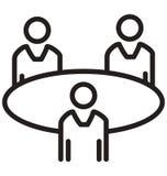 Biznesowi spotkania, Trenuje kreskową odosobnioną wektorową ikonę mogą łatwo redagować i modyfikujący royalty ilustracja